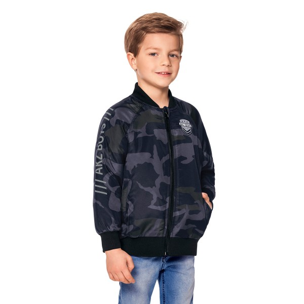jaqueta camuflada infantil masculina preto alakazoo 65775 1