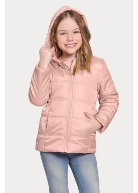 jaqueta capuz infantil juvenil feminina salmao alakazoo 65798 1