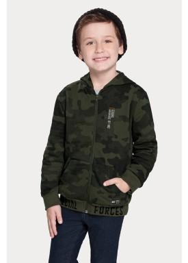 jaqueta moletom infantil juvenil masculina camuflada verde alakazoo 67423 1