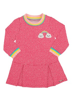 vestido bebe infantil feminino rainbow rosa alakazoo 67450