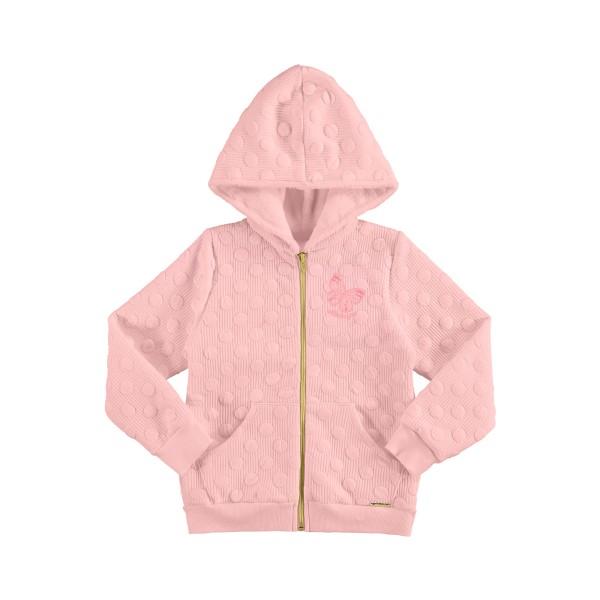 jaqueta matelasse infantil juvenil feminina salmao alakazoo 67547