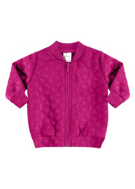 jaqueta matelasse infantil feminina pink alakazoo 67486