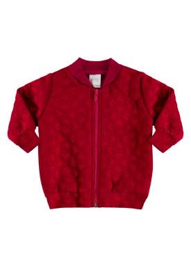jaqueta matelasse infantil feminina vermelho alakazoo 67486