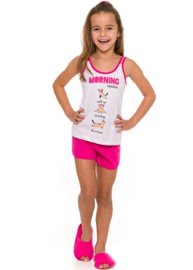 pijama curto infantil feminino morning branco evanilda 49 01 0034