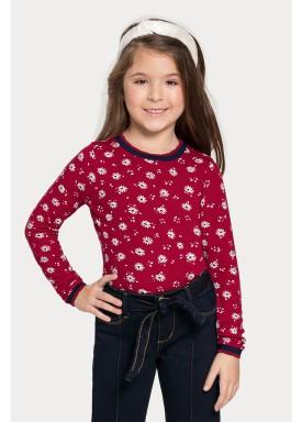 blusa manga longa infantil juvenil feminino flores vermelho alakazoo 67536 1