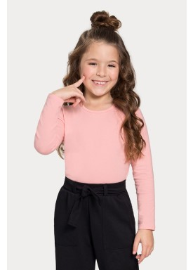 blusa basica manga longa infantil feminino salmao alakazoo 00204 1