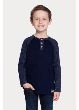 camiseta manga longa infantil juvenil masculino mouline marinho alakazoo 67413 1