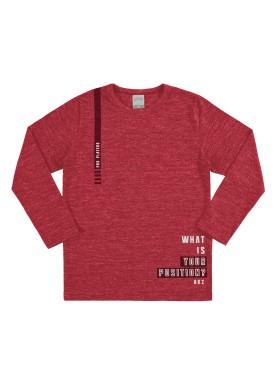 camiseta manga longa infantil juvenil masculino position vermelho alakazoo 67420
