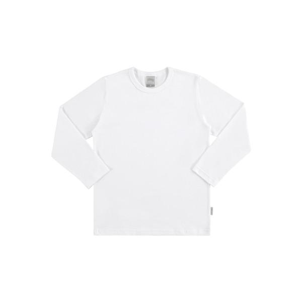 camiseta basica manga longa juvenil masculino branco alakazoo 00214