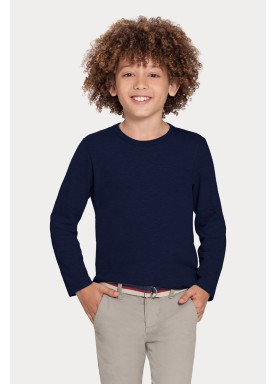 camiseta basica manga longa juvenil masculino marinho alakazoo 00214 1
