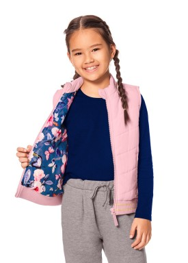 colete infantil juvenil feminino rosa alakazoo 65772 1