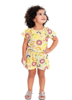 macaquinho infantil feminino pool amarelo fakini 3018 1
