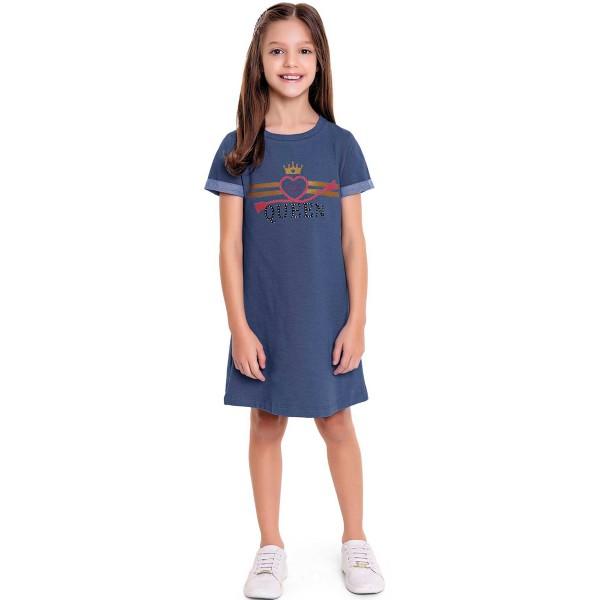 vestido infantil feminino queen azul fakini 3047 1