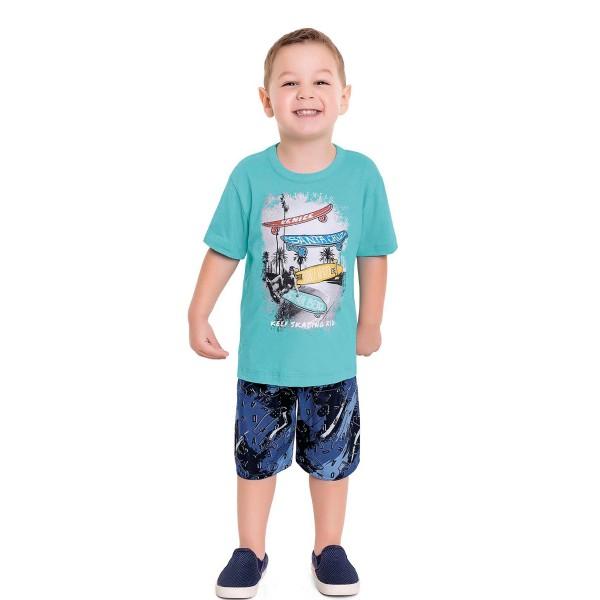 conjunto infantil masculino skate azul fakini forfun 3157 1