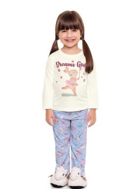 pijama longo infantil feminino dreams marfim fakini 3041 1