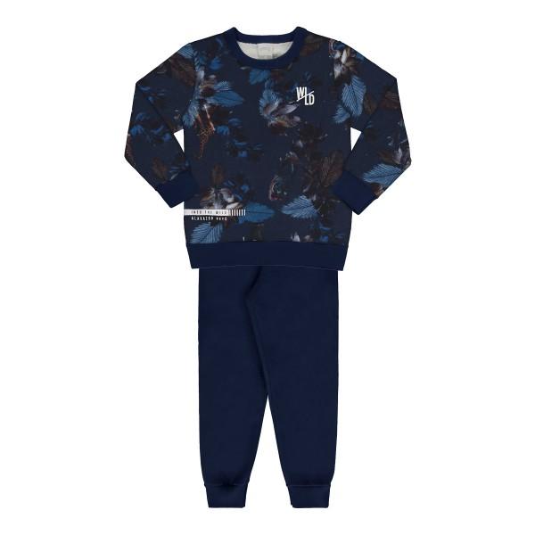 conjunto moletom infantil juvenil masculino wild marinho 67429 1