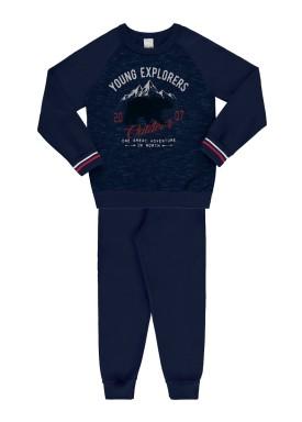 conjunto moletom infantil juvenil masculino explorers marinho 67428 1