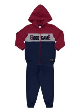 conjunto moletom infantil juvenil masculino good game bordo 67385 1