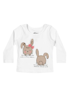 blusa manga longa bebe feminina bunnies preto elian 211120