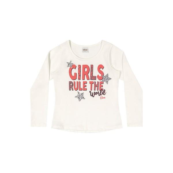 blusa manga longa infantil feminina girls natural elian 251396