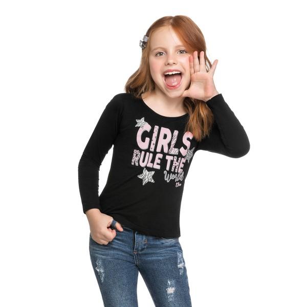 blusa manga longa infantil feminina girls preto elian 251396 1