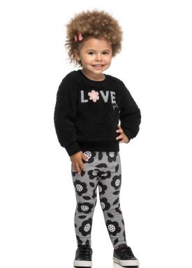 conjunto infantil feminino love girl preto elian 231461 1
