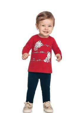conjunto manga longa bebe feminino little girl vermelho elian 211141 1