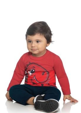 conjunto manga longa bebe masculino roarrr vermelho elian 20936 1