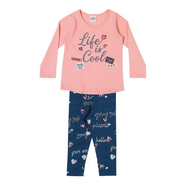 conjunto manga longa infantil feminino cool rosa elian 231457 1