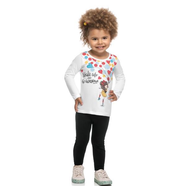 conjunto manga longa infantil feminino wake up branco elian 231472 1