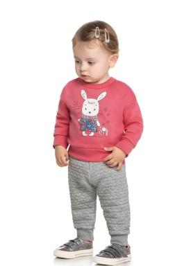 conjunto moletom bebe feminino bunny rosa elian 211127 1