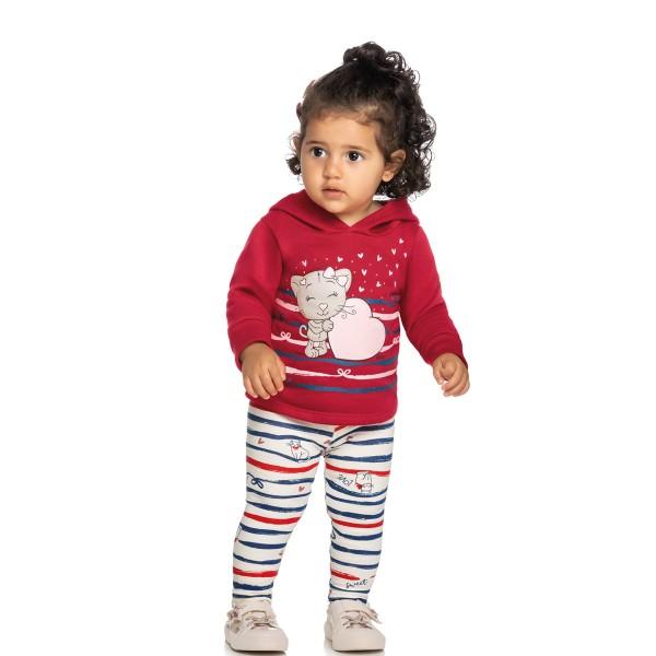 conjunto moletom bebe feminino love vermelho elian 211124 1