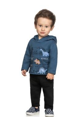 conjunto moletom bebe masculino dinos azul elian 20937 1