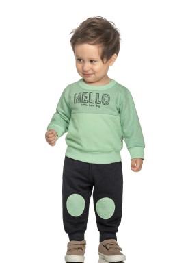 conjunto moletom bebe masculino hello verde elian 20925 1