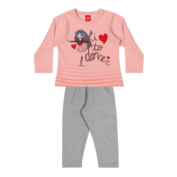 conjunto moletom infantil feminino dance rosa elian 231473 1