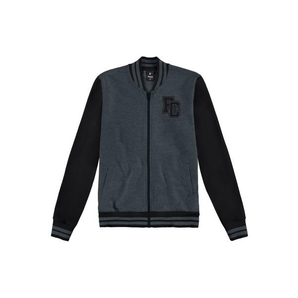 jaqueta moletom juvenil masculina preto fico 68441