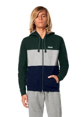 jaqueta moletom juvenil masculina verde fico 68444 1
