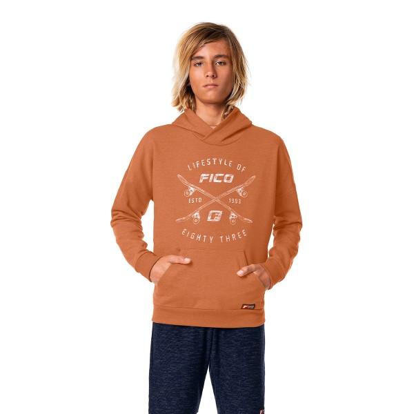 blusao moletom capuz juvenil masculino marrom fico 68437 1