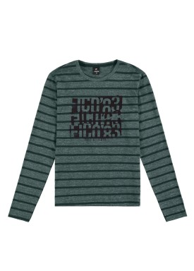 camiseta manga longa juvenil masculina true attitude verde fico 68432