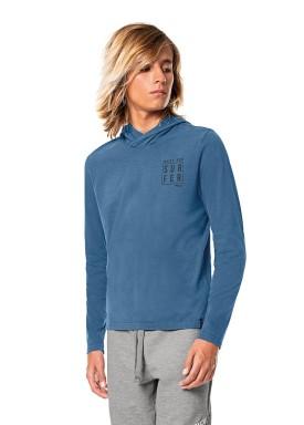 camiseta manga longa capuz juvenil masculina surfer azul fico 68450 1