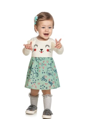 vestido manga longa bebe feminino love cats natural elian 211135 1