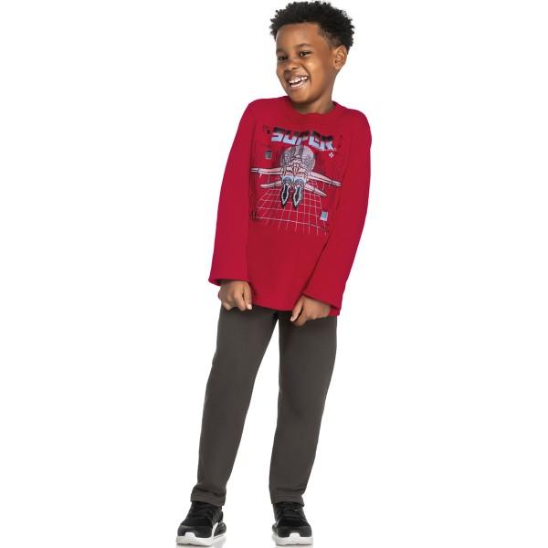 conjunto moletom infantil masculino super vermelho elian 241046 1