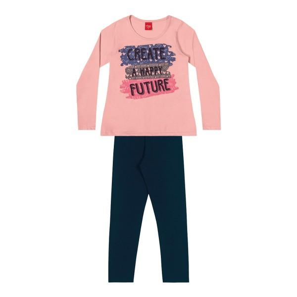 conjunto manga longa infantil feminino future rosa elian 251421 1