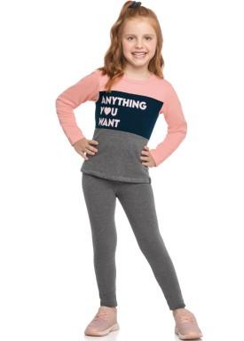 conjunto moletom infantil feminino anything rosa elian 251415 1