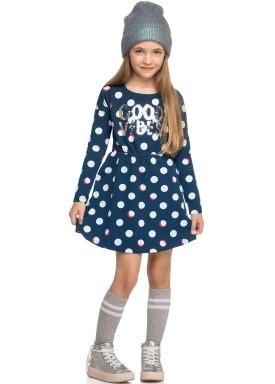 vestido manga longa infantil feminino good vibes marinho elian 251419 1