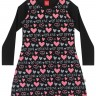 vestido manga longa infantil feminino love preto elian 251423 2