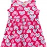vestido infantil feminino coracoes pink brandili 34291 2