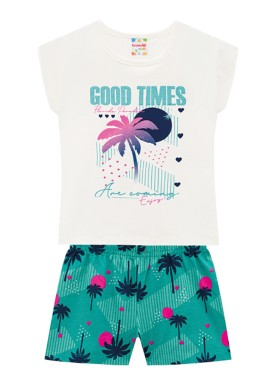 conjunto infantil feminino good times natural brandili 34296