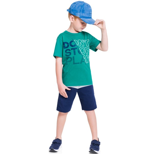 conjunto infantil masculino dont stop verde brandili 34283 1