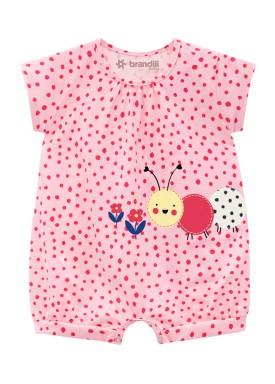 macaquinho curto bebe feminino funny rosa brandili 34328